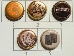 Lot N° 41-1 : 5 Capsules De Bière (parfait état - Pas De Trace De Décapsuleur) Beer - Cerveza - Birra - Bière