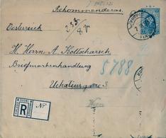 1893 , FINLANDIA , SOBRE ENTERO POSTAL CERTIFICADO , KUOPIO - VIENA , TRÁNSITO EN RUSIA , LLEGADA - Briefe U. Dokumente