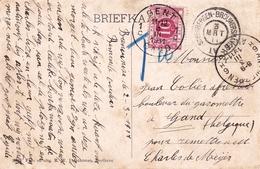 Carte Postale 1911 Steenbergen Brouwershaven Anvers Antwerpen Gand Gent Taxe Tramhaven Zijpe Nederland - Periode 1891-1948 (Wilhelmina)
