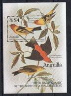 ANGUILLA - 1985 - BIRDS - OISEAUX - 200éme ANNIVERSAIRE DE LA NAISSANCE - 200th BIRTHDAY OF BIRTH - JOHN J.AUDUBON - B/F - Anguilla (1968-...)