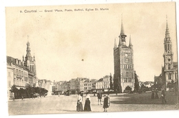 1 -Courtrai (N°9) - Grand'Place, Poste, Beffroi, Eglise St.Martin - Kortrijk
