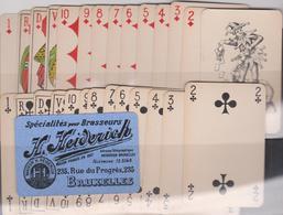 Ancien Jeu De Cartes - Oude Speelkaarten 52+1 Joker HEIDERICH  Spécialités Pour Brasseurs + Emballage - Cartes à Jouer Classiques