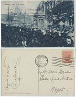 Catania - Festa Di S. Agata, Folla, Viaggiata 1925 - Catania