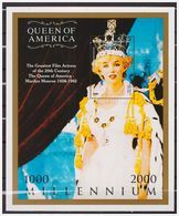 0775 Turkmenistan 2000 Marilyn Monroe S/S MNH - Acteurs