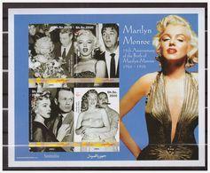 0777 Somalia 2001 Marilyn Monroe S/S MNH Imperf - Acteurs