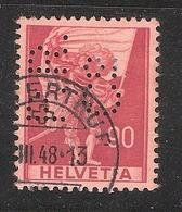 Perfin/perforé/lochung Switzerland No 375 1941 Historical Representation   Perfin P.R. C°  Paul Reinhart & Cie - Perforés