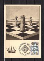 """"""" FESTIVAL INTERNATIONAL D'ECHECS AU HAVRE """" Sur Carte Maximum De 1966. N° YT 1480 Parfait état. CM - Schaken"""