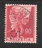 Perfin/perforé/lochung Switzerland No 375 1941 Historical Representation   Perfin S. - Perforés