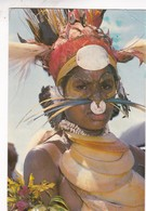 HIGHLY DECORATED HIGHLANDS GIRLS, PAPUA NEW GUINEA. ERIC SCHELL. CIRCULEE 1990 A L'ARGENTINE - BLEUP - Papouasie-Nouvelle-Guinée