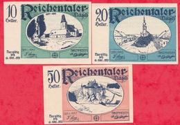 Autriche 3 Notgeld Stadt Reichentaler Dans L 'état Lot N °14 - Autriche
