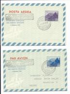 San Marino LF 3 + 4 - 20 + 55 L. Landschaft Aerogramme Beide Mit Erstatgsstempeln - Postal Stationery