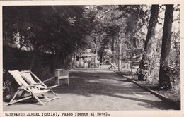 BALNEARIO JAHUEL, CHILE. PASEO FRENTE AL HOTEL- VOYAGEE CIRCA 1958 - BLEUP - Chili