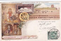 Catacombes De St Calliste, Rome, Vierge En Orante Et Autres - Heilige Plaatsen