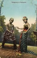 Indonesia, JAVA, Wajang Wayang, Nalagareng And Sembadrie (1916) Postcard - Indonesië