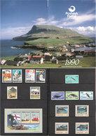 Faroyar Faroe Island 1990 Yearset In Folder, Fishing Industry, Europe Cept, Flag, Whales, Sceneries  Mi 194-210 MNH(**) - Féroé (Iles)