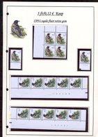 Belgie 2921 CPFL Buzin Vogels Birds Feuille De Collection Numéro De Planche Plaatnummer Drukdatum - 1985-.. Oiseaux (Buzin)