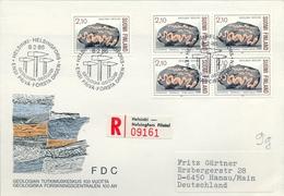 1986 , FINLANDIA ,   YV. 948  + 948 BL / 4  ,  TEMA GEOLOGIA , MINERALES - Geología