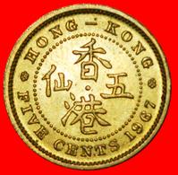 # GREAT BRITAIN (1958-1967): HONG KONG ★ 5 CENTS 1967 UNC MINT LUSTER! LOW START ★ NO RESERVE! - Hong Kong