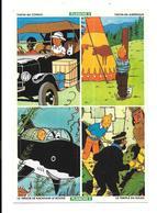 BK26 - PLANCHE DE 4 AUTOCOLLANTS OFFERTE PAR ALSA - TINTIN - Tintin