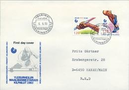 1983 , FINLANDIA ,   YV. 893 / 894  , SOBRE DE PRIMER DIA ,  DEPORTES , ATLETISMO - Finlandia
