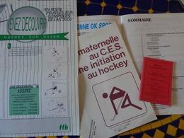 HOCKEY À GAZON- Lot De 4 Documents Pour ENSEIGNANTS- Vers 1991- Documents Neufs - Boeken, Tijdschriften, Stripverhalen
