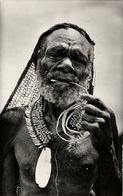 Dutch New Guinea, Native Old Papua Man From Paniai Lakes, Necklace (1950s) RPPC - Papoea-Nieuw-Guinea