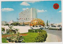 1148/ CASABLANCA, Pl. Mohammed V. Cars, Voitures, Coches, Macchine, Autos.- Circulée En 1977. Sent In England In 1977. - Casablanca