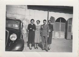 8165 Eb. Vintage Old  Photo Gruppo Auto Fiat Balilla Group Car Foto Peyla Novi Ligure Piemonte Italy 9x7 - Automobili