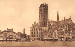 MECHELEN - Hoek Van De Groote Markt En St. Rombouts Hoofdkerk - Mechelen