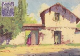 CHILE PINTORESCO. N°14, CASA ANTIGUA, RANCAGUA, RAMOS CATALAN. ED LA PINACOTECA. OBLITERE 1930s - BLEUP - Chili