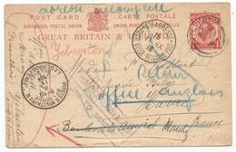Belgique Belgie Allemagne France Great Britain Sainte Adresse Le Havre Sur Entier Postal Anglais 07.09.1916 - Guerra 14 – 18