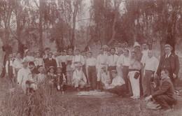 INMIGRACION ITALIANA A LA ARGENTINA CIRCA 1895 CON PEQUEÑAS CORNETAS DE POSTA. BOSQUES DE EZEIZA +40 ITALIANOS - BLEUP - Fotografie