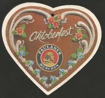 "# PAULANER MUNCHEN OKTOBERFEST, Bierdeckel Beer Mat Biere Sous-Bock Cerveza Posavaso Pivo Pils Birra (""As-Is"") - Bierdeckel"