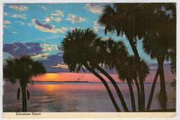 BAHAMIAN  SUNSET    COLOR  BY  FREE LANCE          (VIAGGIATA) - Bahamas