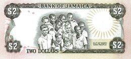 JAMAICA P. 65b 2 D 1986 UNC - Jamaica