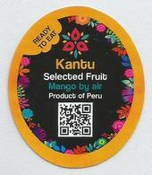 # MANGO KANTU By Air Fruit Sticker Label Etichette Etiquettes Etiquetas Adhesive Aufkleber Fruta Frucht Peru - Fruit En Groenten