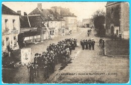 36- AMBRAULT  INDRE En BERRY  -CARTE PHOTO D' UNE SAINT VINCENT VERS 1907 BELLE ANIMATION - France