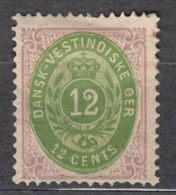 Denmark Danish Antilles (West India) 1876 Mi#12I B Yvert#11 Mint Hinged - Denmark (West Indies)