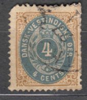 Denmark Danish Antilles (West India) 1896 Perf. 12 3/4 Mi#18 Yvert#7b Used - Denmark (West Indies)