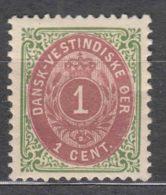 Denmark Danish Antilles (West India) 1896 Perf. 12 3/4 Mi#16 II Yvert#5a Mint Hinged - Denmark (West Indies)