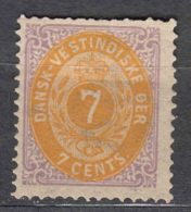 Denmark Danish Antilles (West India) 1873 Perf. 14/13,5 Mi#8 Yvert#9 Mint Hinged - Dinamarca (Antillas)