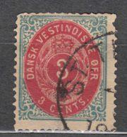 Denmark Danish Antilles (West India) 1873 Perf. 14/13,5 Mi#6 Yvert#6 Used - Dinamarca (Antillas)