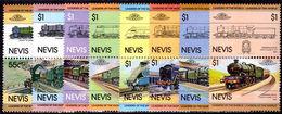 Nevis 1983 World Locomotives Unmounted Mint. - St.Kitts And Nevis ( 1983-...)