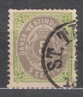Denmark Danish Antilles (West India) 1876 Perf. 14/13,5 Mi#10 II Yvert#10 Used - Denmark (West Indies)