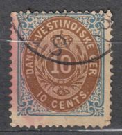 Denmark Danish Antilles (West India) 1876 Perf. 14/13,5 Mi#11 Yvert#10 Used - Dinamarca (Antillas)