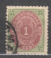 Denmark Danish Antilles (West India) 1896 Perf. 12 3/4 Mi#16 Yvert#5a Used - Dinamarca (Antillas)