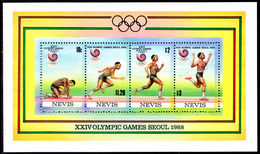 Nevis 1988 Seoul Olympics Souvenir Sheet Unmounted Mint. - St.Kitts And Nevis ( 1983-...)