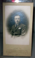 RITRATTO DI UOMO SU CARTONCINO FOTO GHERLONE TORINO FOTO B/N VINTAGE Cabinet Card - Persone Anonimi