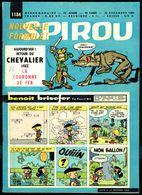 "SPIROU N° 1184 -  Année 1960 - Couverture "" BENOÎT BRISEFER "", De PEYO Et WILL. - Spirou Magazine"