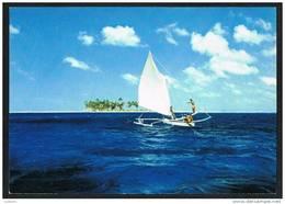 Tahiti - Pirogue A Voile Sailing Canoe (2 Scans) - Tahiti